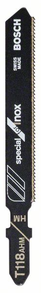 Нож за прободен трион Bosch T 118 AHM-  Special for Inox