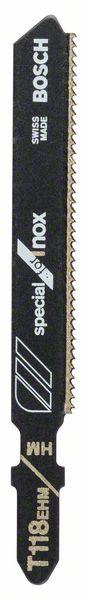 Нож за прободен трион Bosch T 118 EHM- SPECIAL FOR INOX