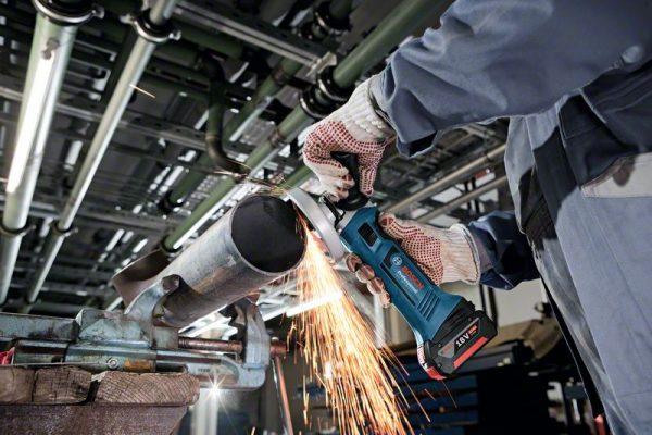 Акумулаторен ъглошлайф GWS 18-125 V-LI Professional