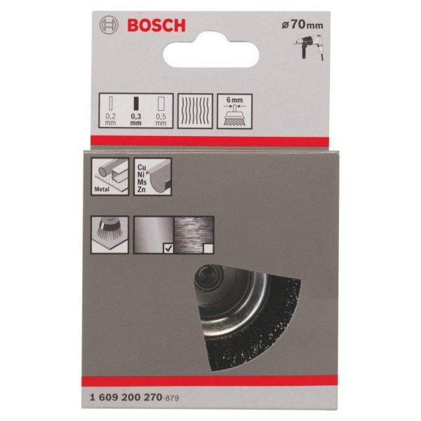 Чашковидна четка Bosch от висококачествена неръждаема стомана