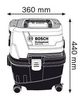 Прахосмукачка за мокро/сухо почистване Bosch GAS 15 PS Professional