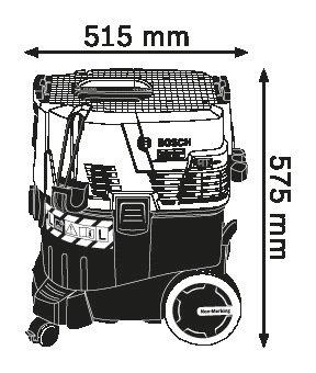 Прахосмукачка за мокро/сухо почистване Bosch GAS 35 L AFC Professional