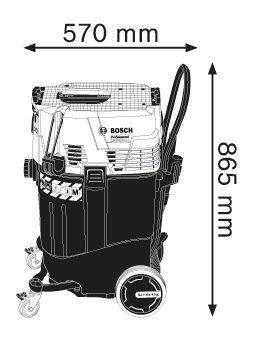 Прахосмукачка за мокро/сухо почистване Bosch GAS 55 M AFC Professional