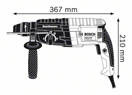 Перфоратор със SDS-plus Bosch GBH 240 Professional