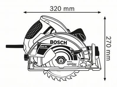 Ръчен циркуляр Bosch GKS 65