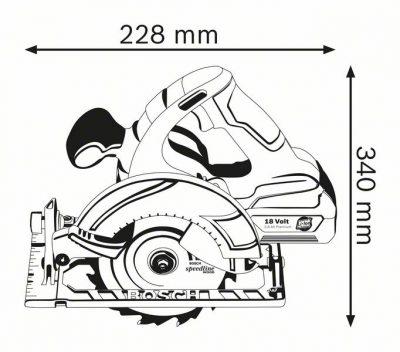 Акумулаторен циркуляр Bosch GKS 18V- Li Professional