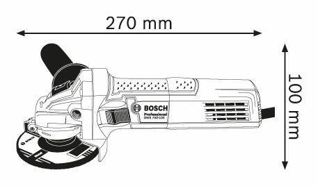 Ъглошлайф Bosch GWS 750-125 Professional