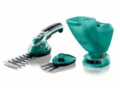 Isio3- Комплект акумулаторна ножица за храсти и акумулаторна ножица за трева
