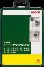 Комплект свредла за метал HSS-R 19 части