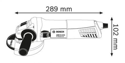 Ъглошлайф Bosch GWS 9-125 S Professional