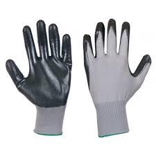 Ръкавици топени в нитрил, сиви