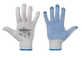Плетени ръкавици с ПВХ точки