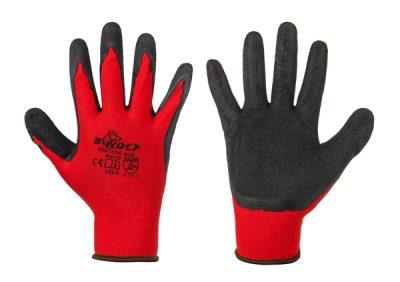 Ръкавици топени в латекс, червени