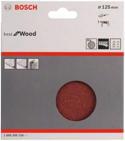 Шкурка на хартиена основа C470 за бормашини, Best for Wood and Paint, велкро, 125мм
