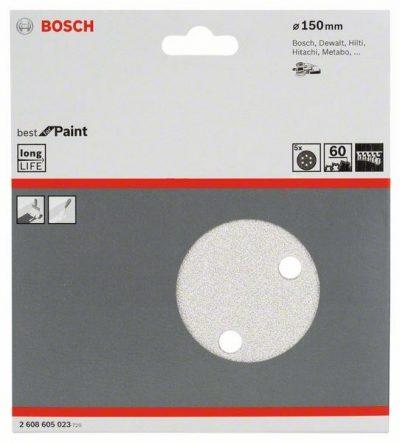 Шкурка за ексцентрикови шлифовъчни машини, Best for Paint, Ø 150 mm, 6 отвора, Р 60