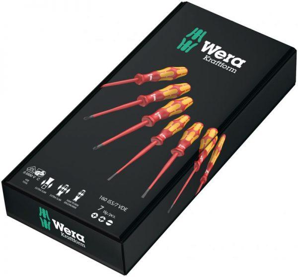 Комплект изолирани отвертки Wera Extra Slim (7 бр.)